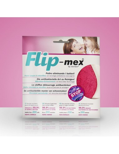 Panno spugna Flip-mex. Antibatterico....